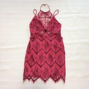 Free People Lace Halter Dress